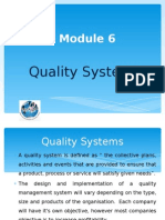 Module 6 - Quality Systems