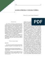 Anestesia Epidural Subaracnoides