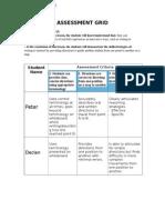Assessment Grid Portfolio Standard 5.3