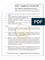 Company Accounts Objective Type Q&A_June 2013 Attempt