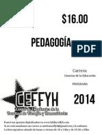 Propuesta curricular de pedagogía 2014