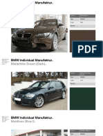 BMW Individual Special Paintwork Collection Guide Part2