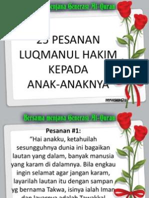 Pesanan Luqman Alhakimpdf