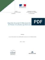 rapport d'expertise du projet d'effacement des ouvrages de Vezins et La Roche-qui-Boit sur la Sélune - mars 2015