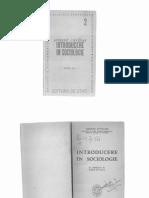 Introducere in sociologie
