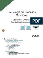 1. Operaciones Unitarias Procesos Químicos
