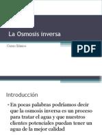3. La Osmosis Inversa