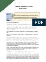 Proyecto de Reforma Del Codigo Penal en Materia de Funcion Publica