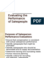 Salesmanagement Performance Evaluation