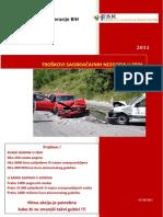Troškovi Saobraćajnih Nezgoda u FBIH 2011