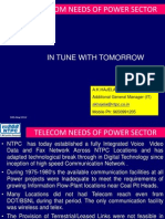 Telecom Needs of Power Sector