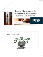 Legal Research and Writing Legal Essays