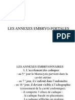 Les Annexes Embryo-foetale