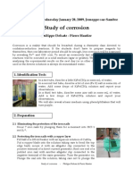 Study of Corrosion
