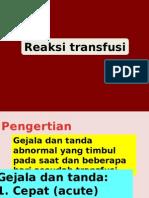 4. Reaksi Transfusi