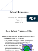 Cultural Dimensions (Week 3)