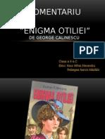 Comentariu Enigma Otiliei