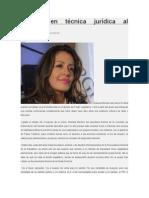 03.05.2015 Experta en técnica jurídica al Congreso