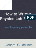How to Write a Physics Lab Report