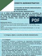 Apresentação1 Aula 1 direito administrativo