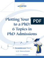Phd Admissions Tips