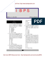 IBPS Specialist Officers Exam Paper Helo on 11-03-2012 Test 1 Reasoning Www.bankpoclerk.com