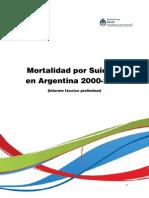 2014 12 18 Informe Tecnico Preliminar Mortalidad Por Suicidio en Argentina