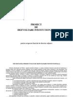 Proiect de Dezvoltare Institutionala