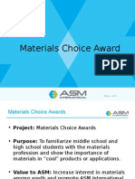 Materials Choice Award - ASM