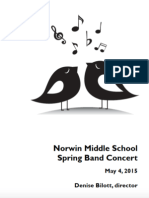 NMS Band Concert Program 2015-05-04