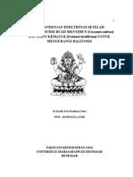 Perbandingan Efektifitas Setelah Mengkonsumsi Buah Mentimun (Cucumis Sativus) Dan Daun Kemangi (Ocimum Basillicum) Untuk Mengurangi Halitosis