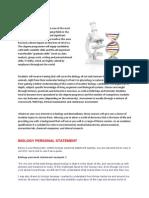 Biology Personal Statement