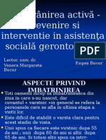 Imbatranirea Activa - Prevenire Si Interventie in Asistenta Sociala Gerontologica