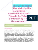 OIL SUBSIDY BURDEN-Why The Kirit Parikh Committee Recommendations Should Be Taken Seriously By The Government-VRK100-05022010