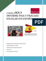 Informe PISA y Fracaso Escolar en España