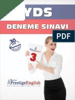 Prestige Yds Deneme 03