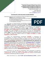 Informações Adicionais ao Defensor Público Geral do RJ