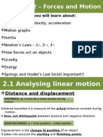 2.1 Analysing Linear Motion