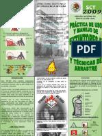 TRIPTICO-Practicas de Uso y Manejo de Extintores e Hidrantes y Tecnicas de Arrastre 2009