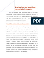 strategies for handling inappropriate behavior in the classroom
