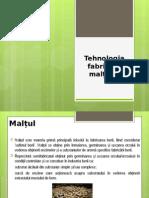 Tehnologia Fabricării Malțului Seminar 2