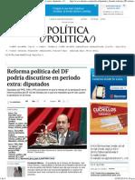 30-04-15 Reforma política del DF podría discutirse en periodo extra