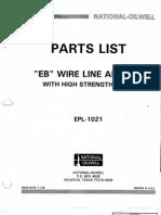 National Type Eb Wireline Anchor Partslist Epl 1021