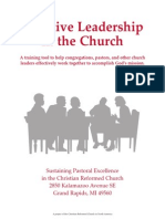 LEADERSHIP & THEOLOGY - Effective Leadership in the Church