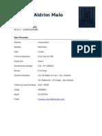 Curriculum Vitae - Hoower Malo Alvaro