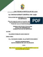 Tesis Pasta de Cacao, Utpl Final (20 Agosto 2013)