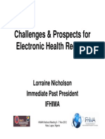 Challenges & Prospects for EHRs FINAL Nov 2012