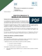 Practica Dirigida Ndeg 9 El Problema de Asignacion u Wiener 2013.1