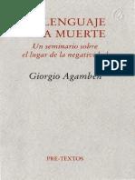 GIORGIO AGAMBEN - El lenguaje y la muerte.pdf