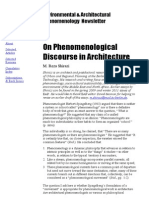 Phenomenological Discourse